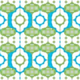 Seamless Arabesque Tile Background Stock Photo