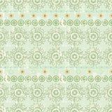 Seamless arabic style endless tiled pattern,grungy vector. Seamless arabic style endless pattern, grungy style, green color arab style vector illustration stock illustration
