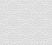Seamless arabic geometric  pattern, 3D white background, indian ornament Royalty Free Stock Photos