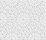 Seamless arabic geometric pattern, east ornament, indian ornament, persian moti stock illustration