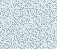 Seamless arabic geometric pattern, east ornament, indian ornament, persian motif. 3D, vector EPS 10. Endless texture can be used for wallpaper, pattern fills vector illustration