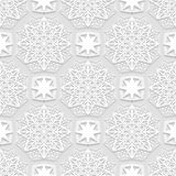 Seamless arabic geometric  pattern, east ornament, indian pattern, persian motif, white background, 3D, vector Stock Photo