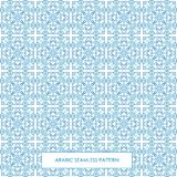 Seamless arabic pattern blue. Modern line traditional arabic pattern background design. Ideal for wall decoration, printables and wrapping paper design vector illustration
