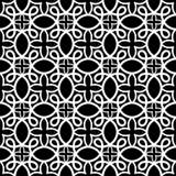 Seamless arabic swirls geometric pattern Stock Photography
