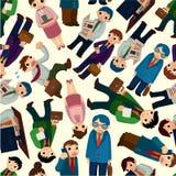 seamless arbetare för kontorsmodell stock illustrationer