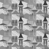 Seamless architectural pattern. Stock Photo