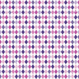 Seamless argyle diamond background purple pink. Seamless vector background with purple argyle diamonds pattern in purple and pink. Light grunge effect. Rough Stock Images