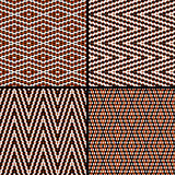 Seamless argyle pattern. Composed of dots. Vector Stock Photography
