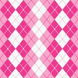 Dashed Argyle in Pink and White Royalty Free Stock Photography