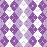 Dashed Argyle in Purple and White Stock Photos