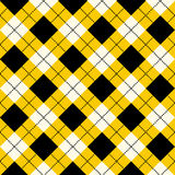 Seamless argyle pattern. Diamond shapes background. Vector Royalty Free Stock Image