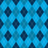 Seamless argyle pattern. Retro blue color .Vector Stock Image