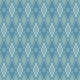 Seamless argyle pattern with snowflakes Royalty Free Stock Photos