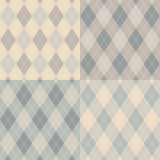 Seamless argyle pattern. Vector set. Royalty Free Stock Image