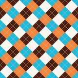 Seamless argyle plaid blue pattern. Diamond check vector illustration