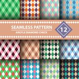 Seamless argyle plaid blue pattern. Diamond check - idea for your print. vector illustration