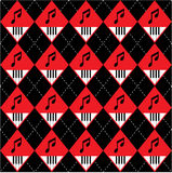 Seamless Argyle-Plaid Vector Art Pattern Stock Photography