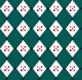 Seamless Argyle-Plaid Vector Art Pattern. Seamless Card suits Argyle-Plaid in Vector Art Royalty Free Stock Image