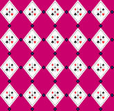 Seamless Argyle-Plaid Vector Art Pattern Stock Images