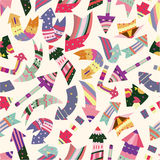 Seamless arrow pattern. Vector drawing Royalty Free Stock Images