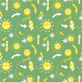 Seamless arrow pattern Stock Photos
