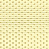Seamless arrow pattern with light gold colors. Modern trendy shape art style. royalty free illustration