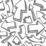 Seamless arrows background Stock Image