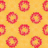 Seamless with Arrowy Flowers Royalty Free Stock Photo