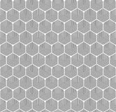 Seamless Art Deco abstract geometric hexagon texture. Concentric hexagonal contour pattern. Seamless Art Deco abstract geometric hexagon texture. Concentric stock illustration