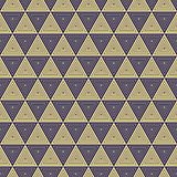 Seamless Art Deco concentric triangle facet pattern. Background wallpaper vector illustration