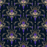Seamless art deco modern pattern graphic ornament. Abstract styl Stock Images