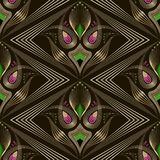 Seamless art deco modern pattern graphic ornament. Abstract styl Stock Photo