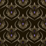 Seamless art deco modern pattern graphic ornament background. Ve Stock Image