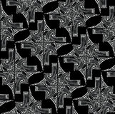 Seamless art-deco pattern. Stock Images