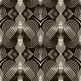 Seamless art deco pattern ornament. Geometric stylish background Stock Photography