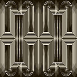 Seamless art deco pattern ornament. Geometric stylish background Stock Image