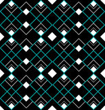Seamless art deco triangles Royalty Free Stock Photo
