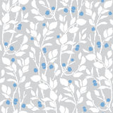 Seamless Art Deco vintage pattern sprigs and berries Stock Images