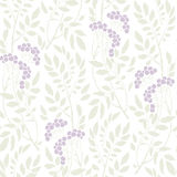 Seamless Art Deco vintage pattern sprigs and berries Royalty Free Stock Photography