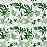 Seamless art floral pattern Stock Photo