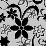 Seamless art flower pattern Stock Photos