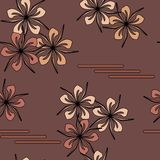 Seamless art flower pattern Royalty Free Stock Photos