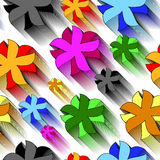 Seamless art flower pattern Stock Photography