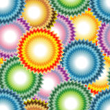 Seamless art flower pattern. Vivid, colorful, repeating art flower background Royalty Free Stock Photos