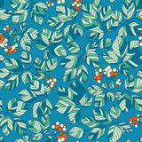 Seamless art green leaves pattern. Seamless green leaves floral pattern Stock Image