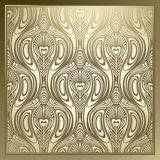 Seamless Art Nouveau. Seamless pattern. Can be used in textiles, for book design, website background Stock Images
