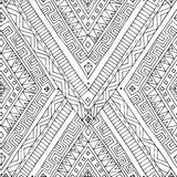 Seamless asian ethnic black and white pattern Royalty Free Stock Photos