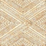 Seamless asian ethnic doodle black, white pattern. Stock Photos