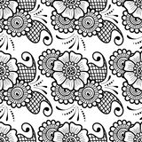 Mehndi seamless pattern. Seamless asian ethnic floral pattern. Mehndi design. Vector illustration Stock Photography