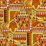 Seamless asian ethnic floral retro doodle background pattern in vector. Henna paisley mehndi doodles design tribal pattern. Stock Images